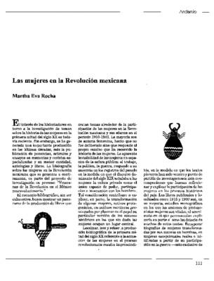 Las mujeres en la Revolución mexicana