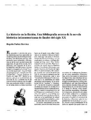 La historia en la ficción. Una bibliografía acerca de la novela histórica latinoamericana de finales del siglo XX