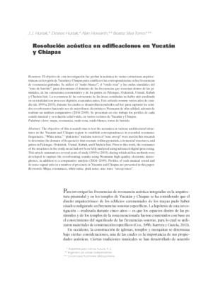 Resolución acústica en edificaciones en Yucatán y Chiapas