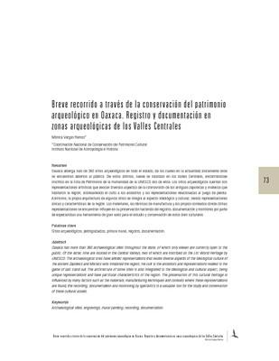 Breve recorrido a través de la conservación del patrimonio arqueológico en Oaxaca. Registro y documentación en zonas arqueológicas de los Valles Centrales