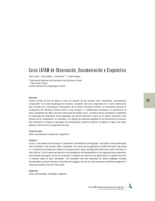 Curso LATAM de Observación, Documentación y Diagnóstico