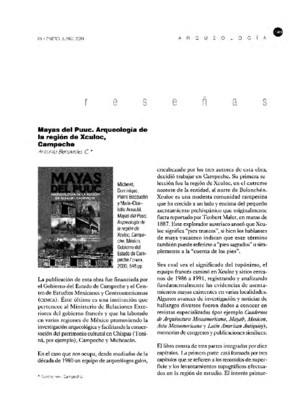 Mayas del Puuc. Arqueología de la región de Xculoc, Campeche