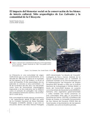El impacto del bienestar social en la conservación de los bienes de interés cultural. Sitio arqueológico de Las Labradas y la comunidad de la Chicayota