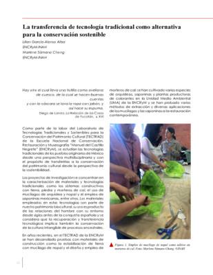La transferencia de tecnología tradicional como alternativa para la conservación sostenible