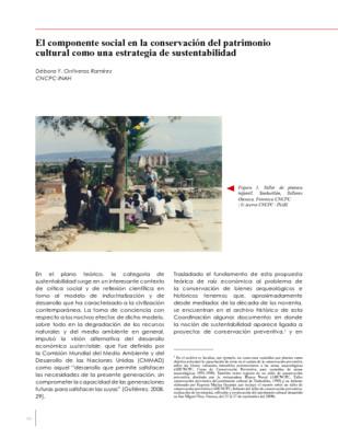 El componente social en la conservación del patrimonio cultural como una estrategia de sustentabilidad