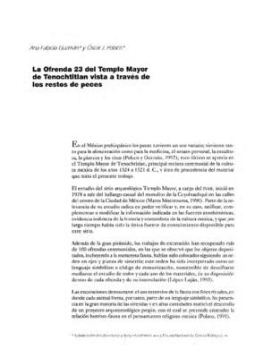 La ofrenda 23 del Templo Mayor de Tenochtitlan vista a través de los restos de peces