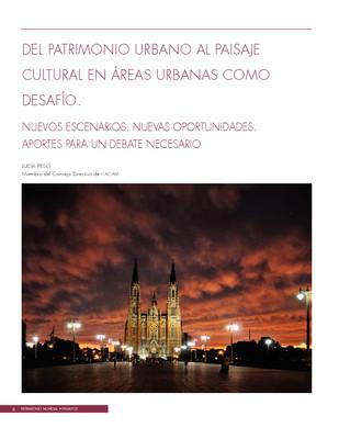 Del patrimonio urbano al paisaje cultural en áreas urbanas como desafío
