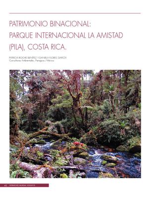 Patrimonio binacional: Parque Internacional La amistas (PILA), Costa Rica