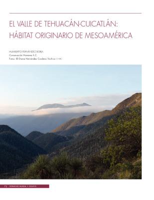 El Valle de Tehuacán-Cuicatlán: Hábitat originario de Mesoamérica