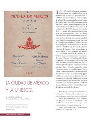 La Ciudad de México y la UNESCO