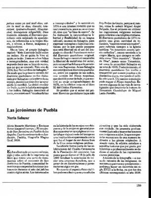 Las jerónimas de Puebla