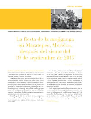 La fiesta de la mojiganga en Mazatepec, Morelos, después del sismo del 19 de septiembre de 2017