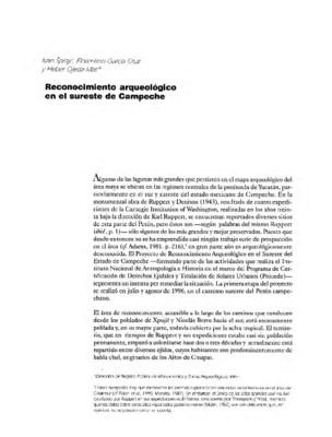 Reconocimiento arqueológico en el sur de Campeche