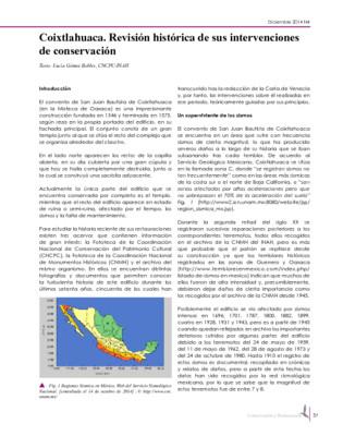 Coixtlahuaca. Revisión histórica de sus intervenciones de conservación
