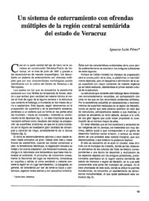 Un sistema de enterramiento con ofrendas múltiples de la región central semiárida del estado de Veracruz
