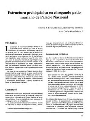Estructura prehispánica en el segundo patio mariano de Palacio Nacional