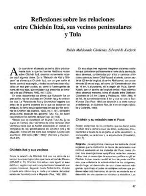 Reflexiones sobre las relaciones entre Chichén Itzá, sus vecinos peninsulares y Tula
