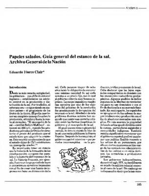 Papeles salados. Guía general del estanco de la sal. Archivo General de la Nación