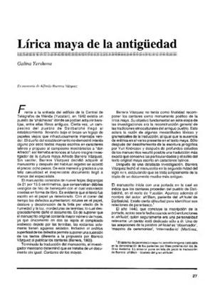 Lírica maya de la antiguedad