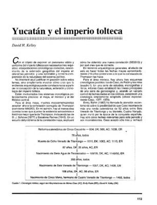 Yucatán y el imperio tolteca