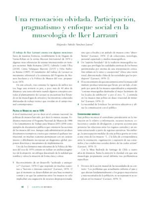 Una renovación olvidada. Participación, pragmatismo y enfoque social en la museología de Iker Larrauri