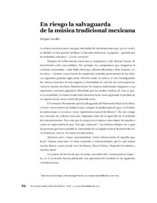En riesgo la salvaguarda de la música tradicional mexicana