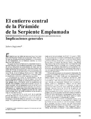 El entierro central de la Pirámide de la Serpiente Emplumada