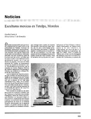 Esculturas mexicas en Tetelpa, Morelos