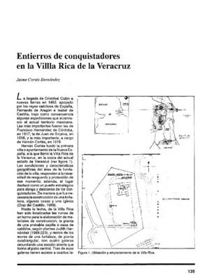 Entierros de conquistadores en la Villa Rica de la Veracruz