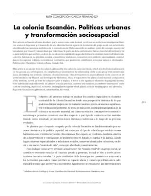 La colonia Escandón. Políticas urbanas y transformación socioespacial