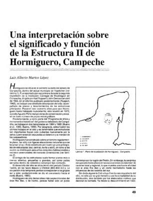 Una interpretación sobre el significado y función de la Estructura II de Hormiguero, Campeche
