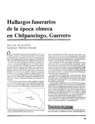 Hallazgos funerarios de la época olmeca en Chilpancingo, Guerrero