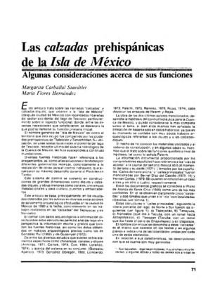 Las calzadas prehispánicas de la Isla de México