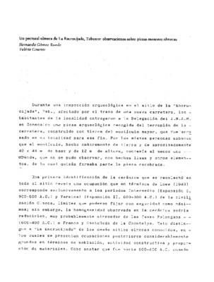 Un pectoral olmeca de La Encrucijada, Tabasco: observaciones sobre piezas menores olmecas