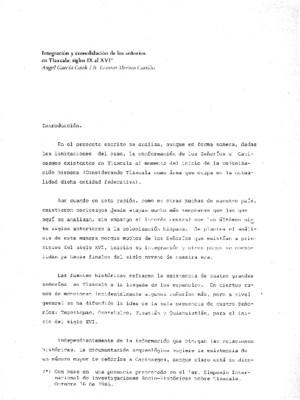 Integración y consolidación de los señorios en Tlaxcala: siglos IX al XVI
