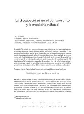 La discapacidad en el pensamiento y la medicina náhuatl