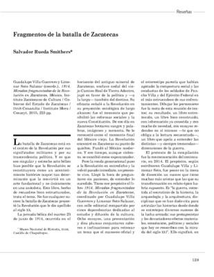 Fragmentos de la batalla de Zacatecas
