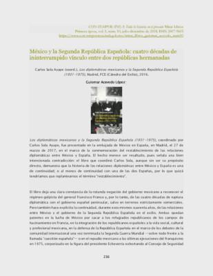 México y la segunda República Española: cuatro décadas de ininterrumpido vínculo entre dos repúblicas hermanadas