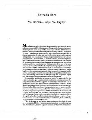 W. Borah…, aquí W. Taylor