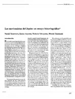 Los mexicanistas del Japón: un ensayo historiográfico