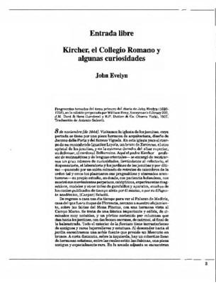 Kircher, el Collegio Romano y algunas curiosidades