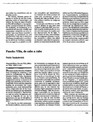 Pancho Villa, de cabo a rabo
