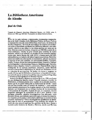 La Bibliotheca Americana de Alcedo
