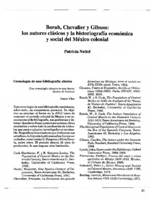 Borah, Chevalier y Gibson: los autores clásicos y la historiografía económica y social del México colonial