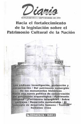 Suplemento 3. Hacia el fortalecimiento de la legislación sobre el Patrimonio Cultural de la Nación