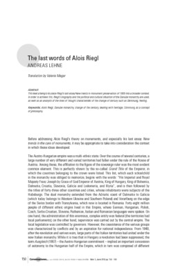 The last words of Alois Riegl