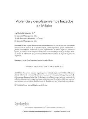 Violencia y desplazamientos forzados en México