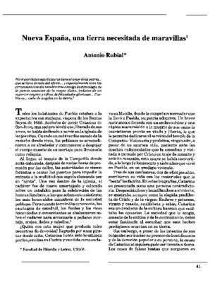 Nueva España, una tierra necesitada de maravillas
