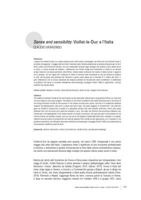 Sense and sensibility: Viollet-le-Duc e l'Italia