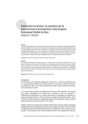 Instruction et action. La question de la polychromie d'architecture chez Eugène Emmanuel Viollet-le-Duc